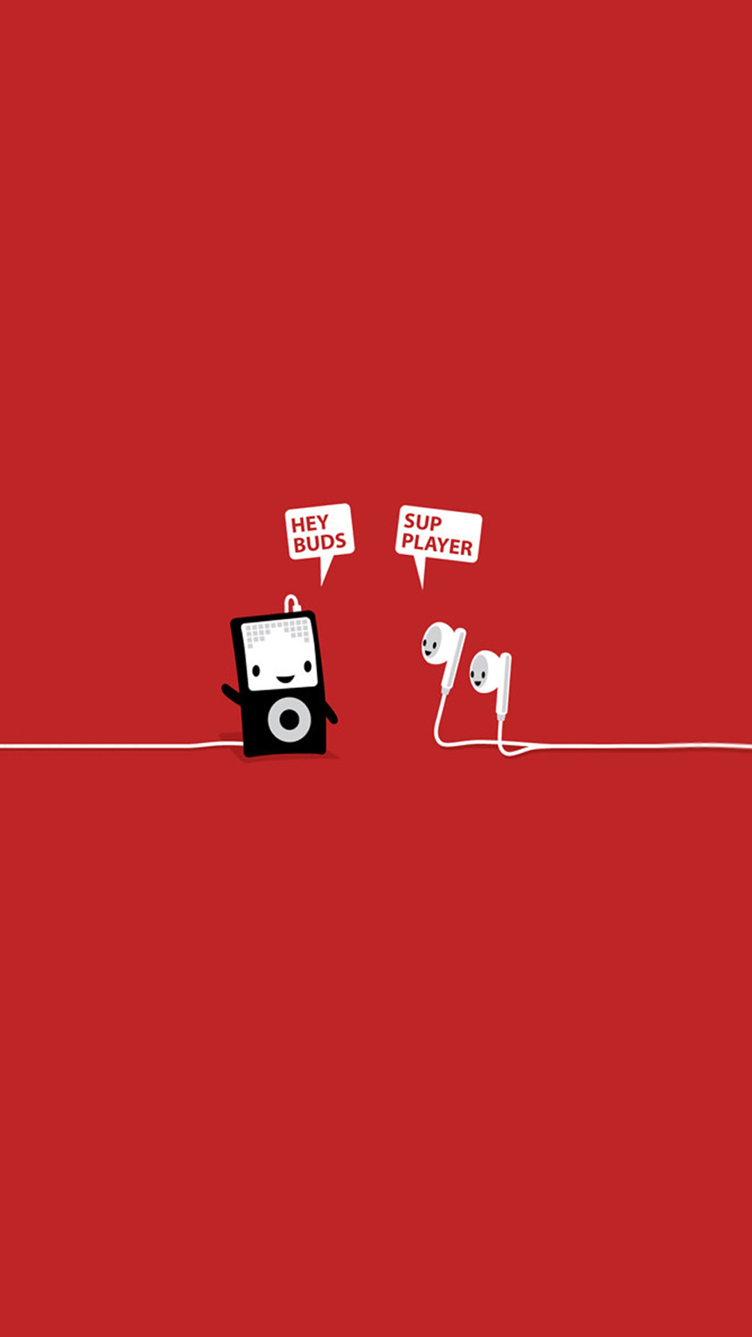 Funny Music Headphones Player Buds #iPhone #6 #plus #wallpaper