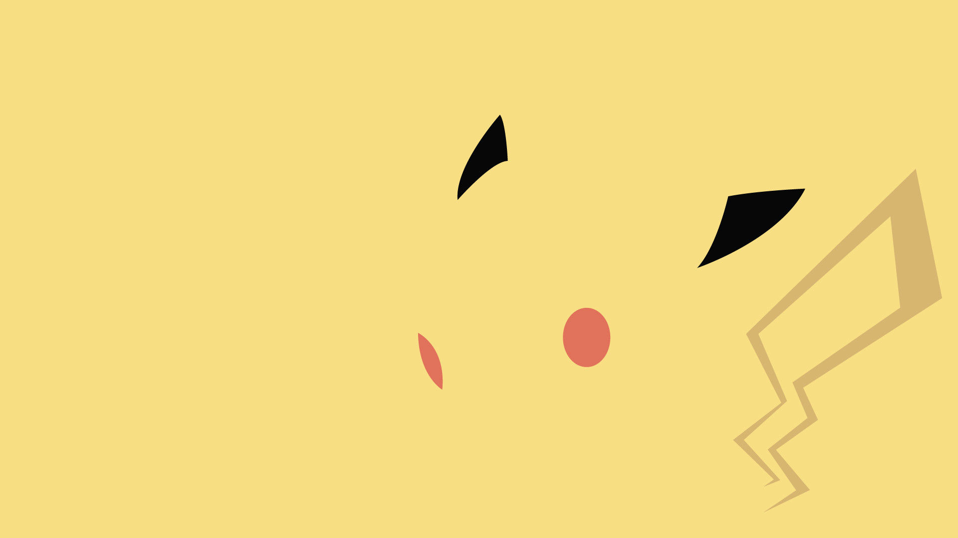 Awesome minimalist Pikachu wallpaper. There is a whole collection of them  at the linked site