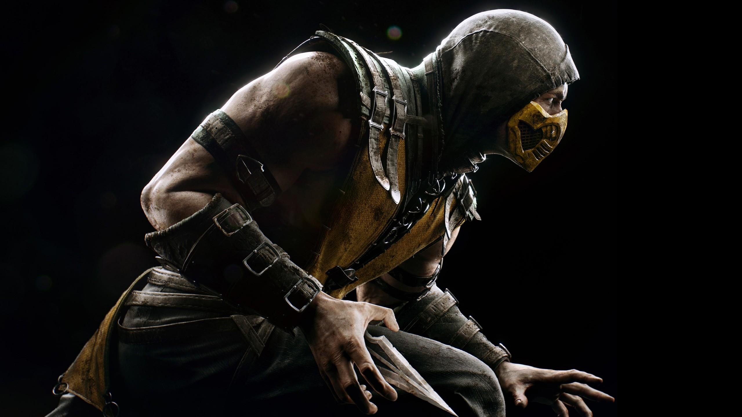 Wallpaper mortal kombat x, scorpio, ninja, pose