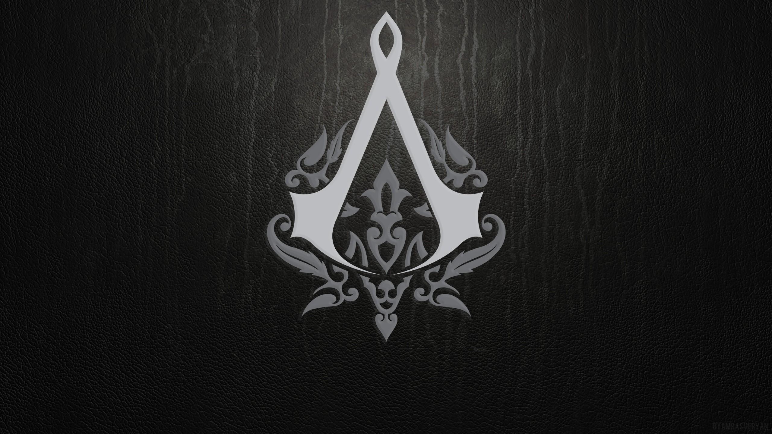 Preview wallpaper assassins creed, emblem, background, sign 2560×1440