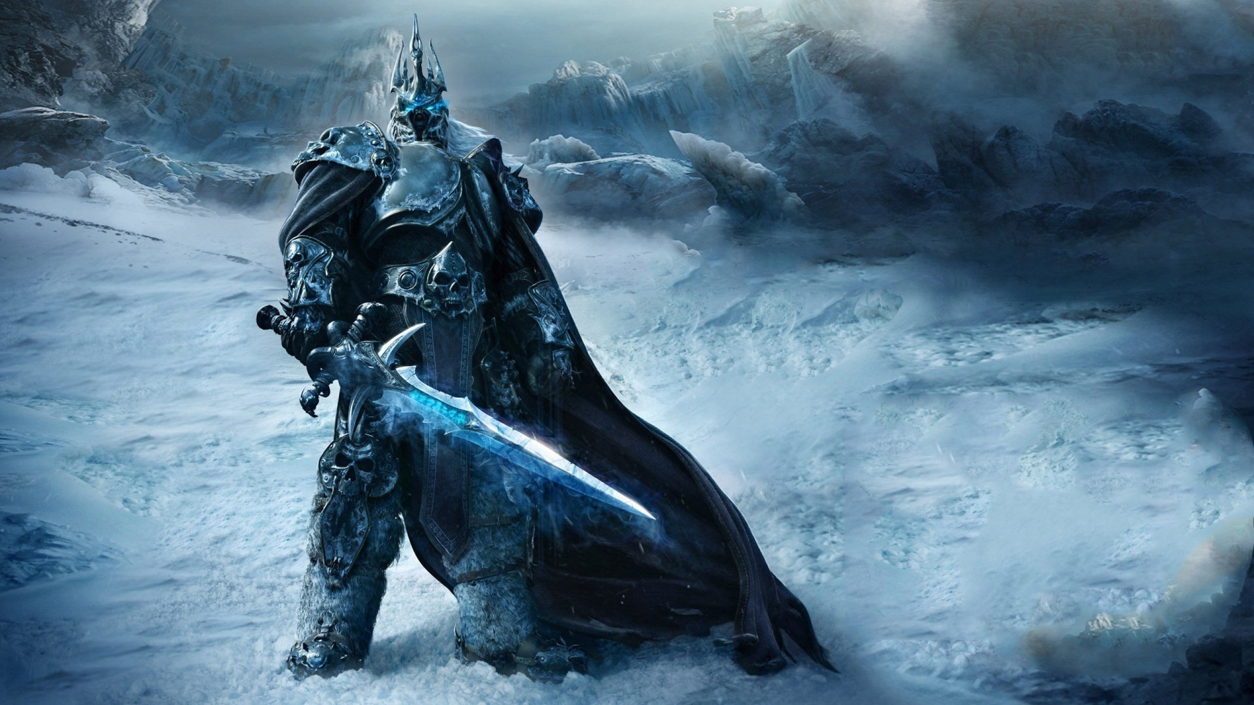 Preview wallpaper game, warrior, world of warcraft, wrath of the lich king  2560×1440