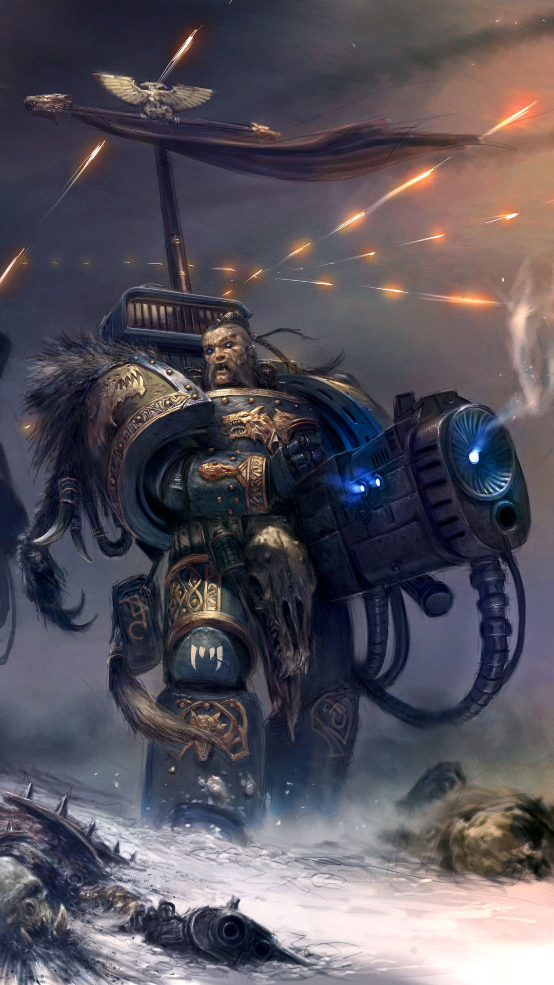 … Space Wolf – Warhammer 40,000 Game mobile wallpaper