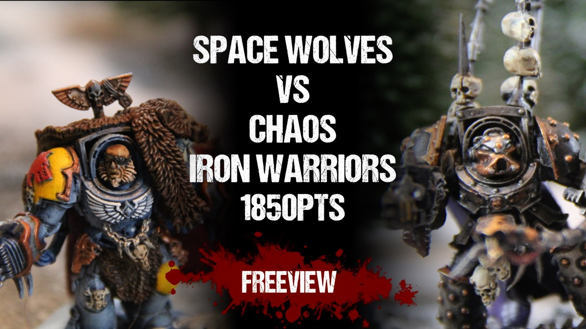 Warhammer 40,000 Battle Report: Space Wolves vs Chaos Iron Warriors 1850pts  – YouTube