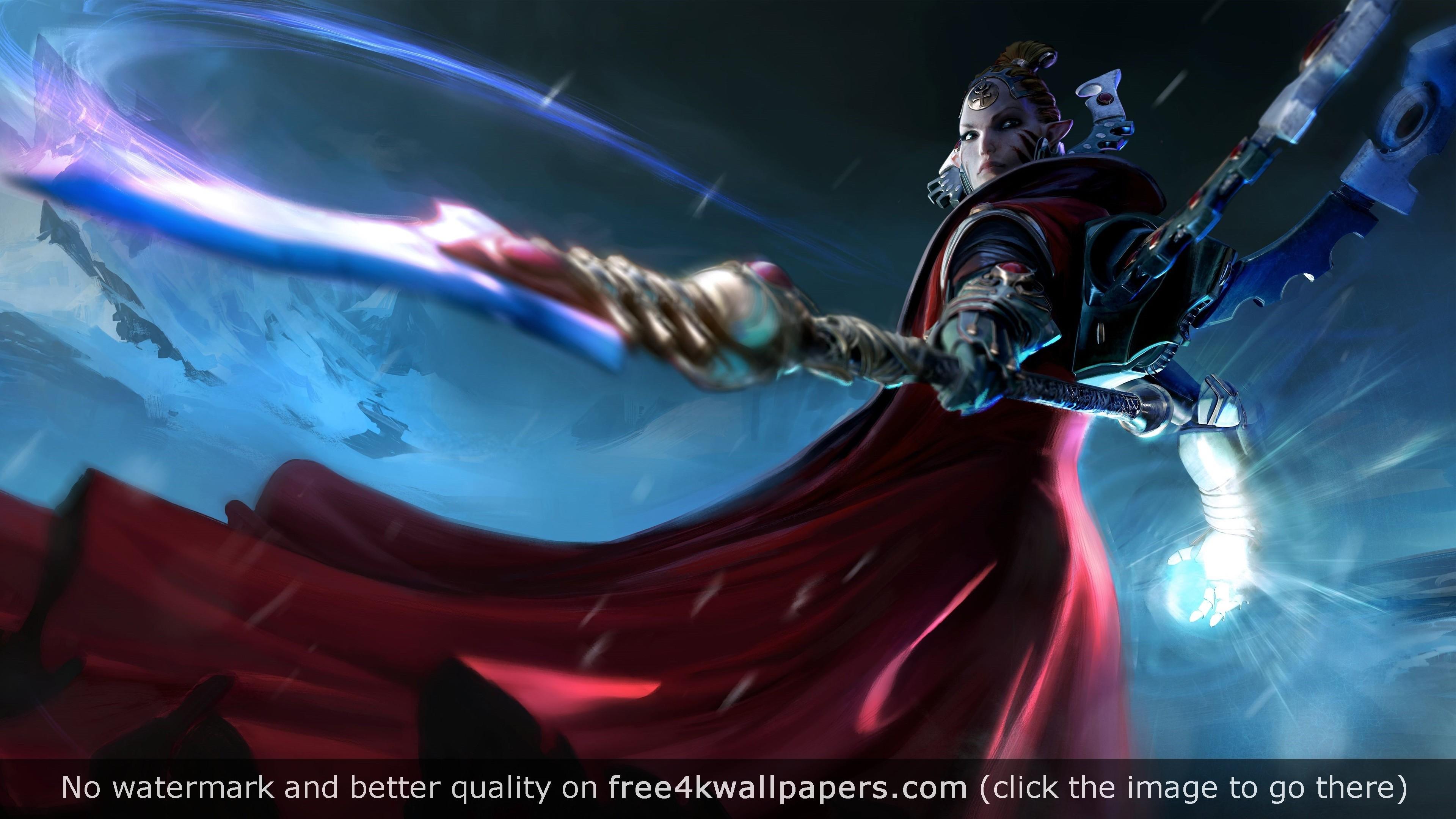 Macha Farseer Warhammer 40K Dawn of War 4K 4K wallpaper