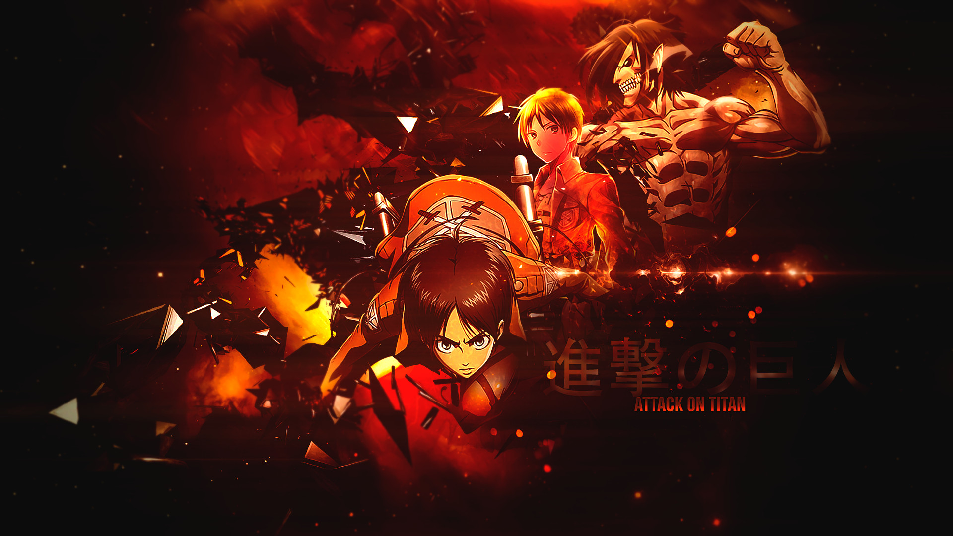 Anime – Attack On Titan Eren Yeager Shingeki No Kyojin Wallpaper