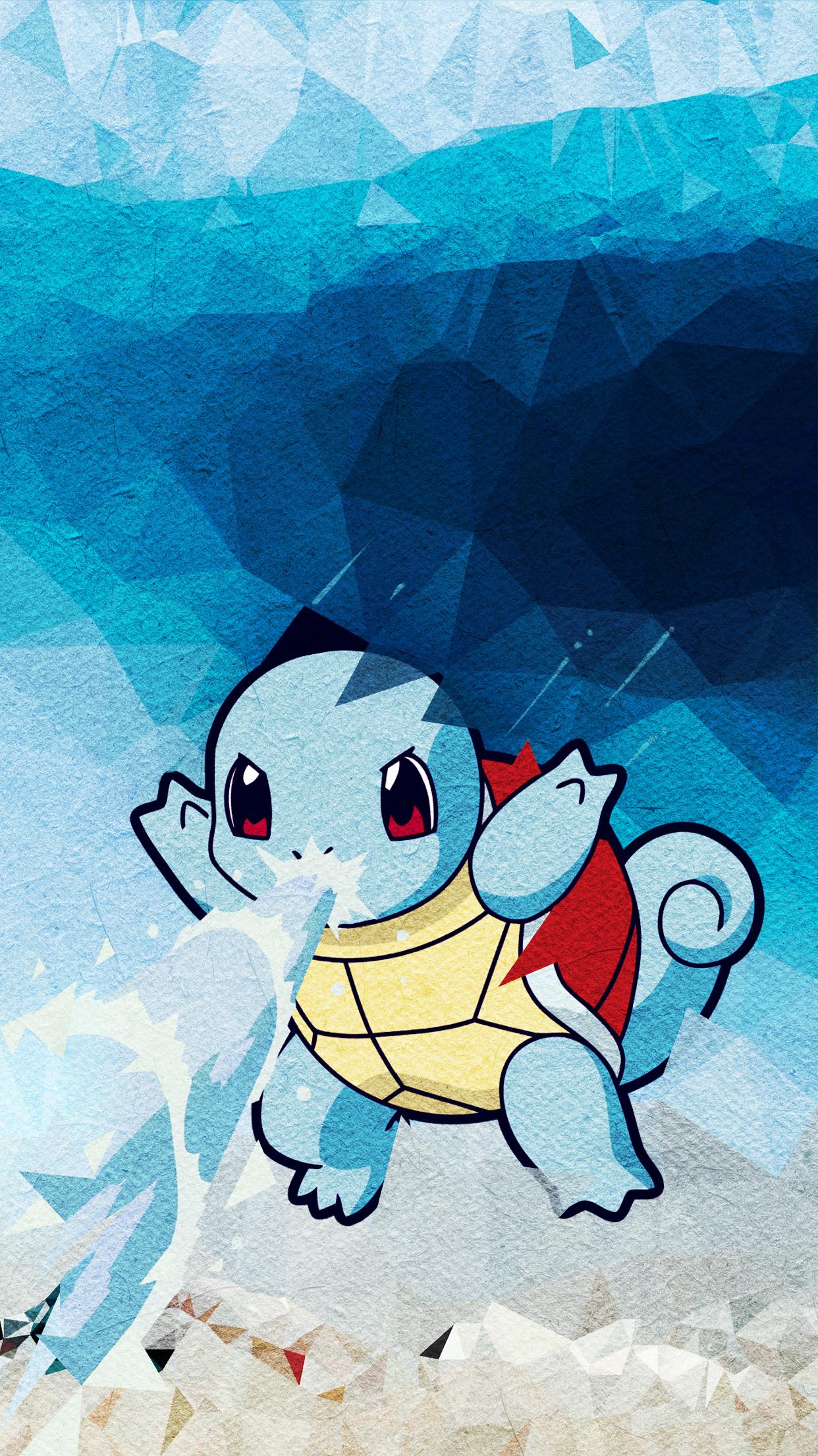 Pikachu. Trigraphy-Wallpaper-Squirtel