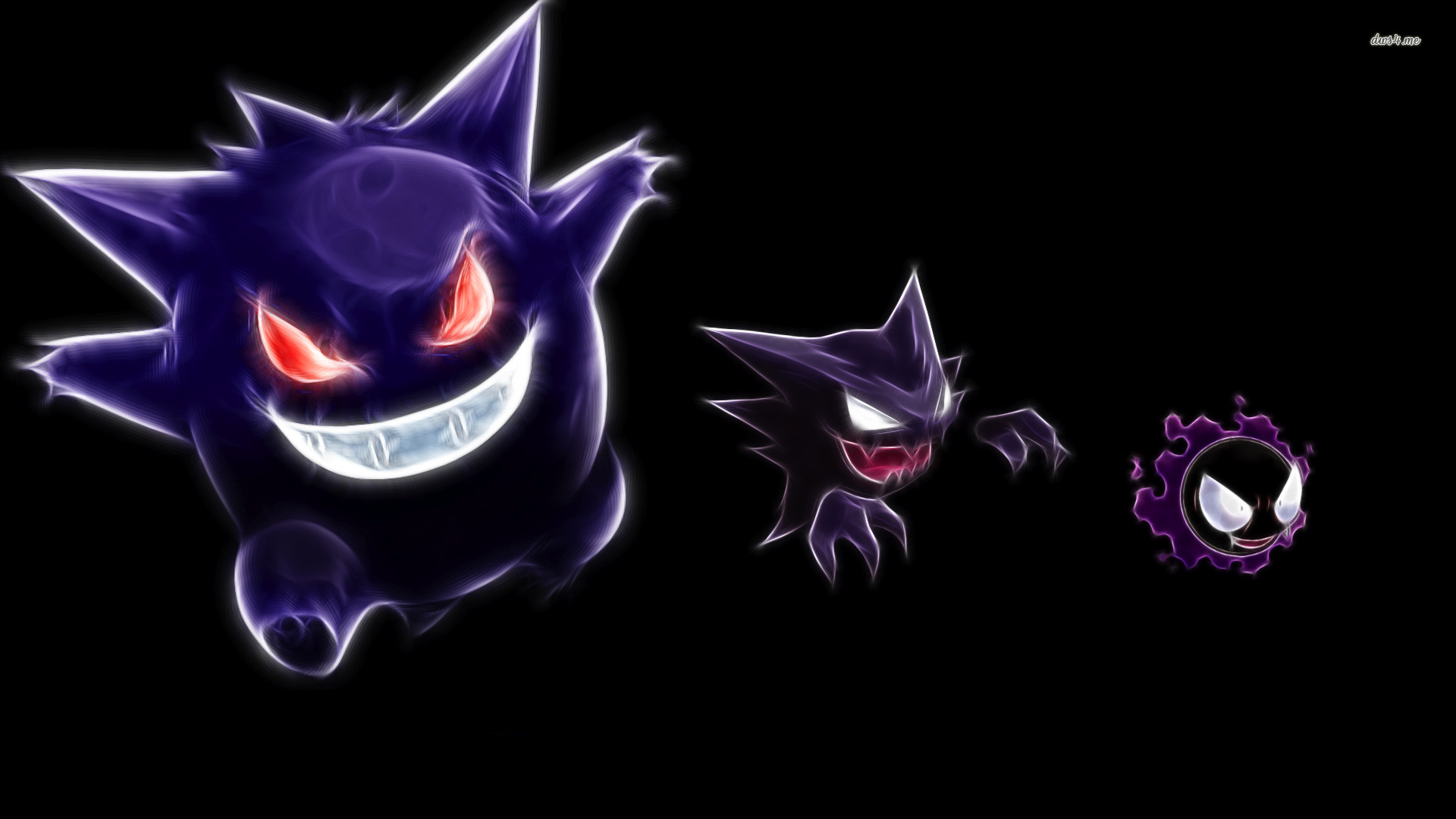 Gengar, Haunter and Gastly in Pokemon wallpaper – Game wallpapers .