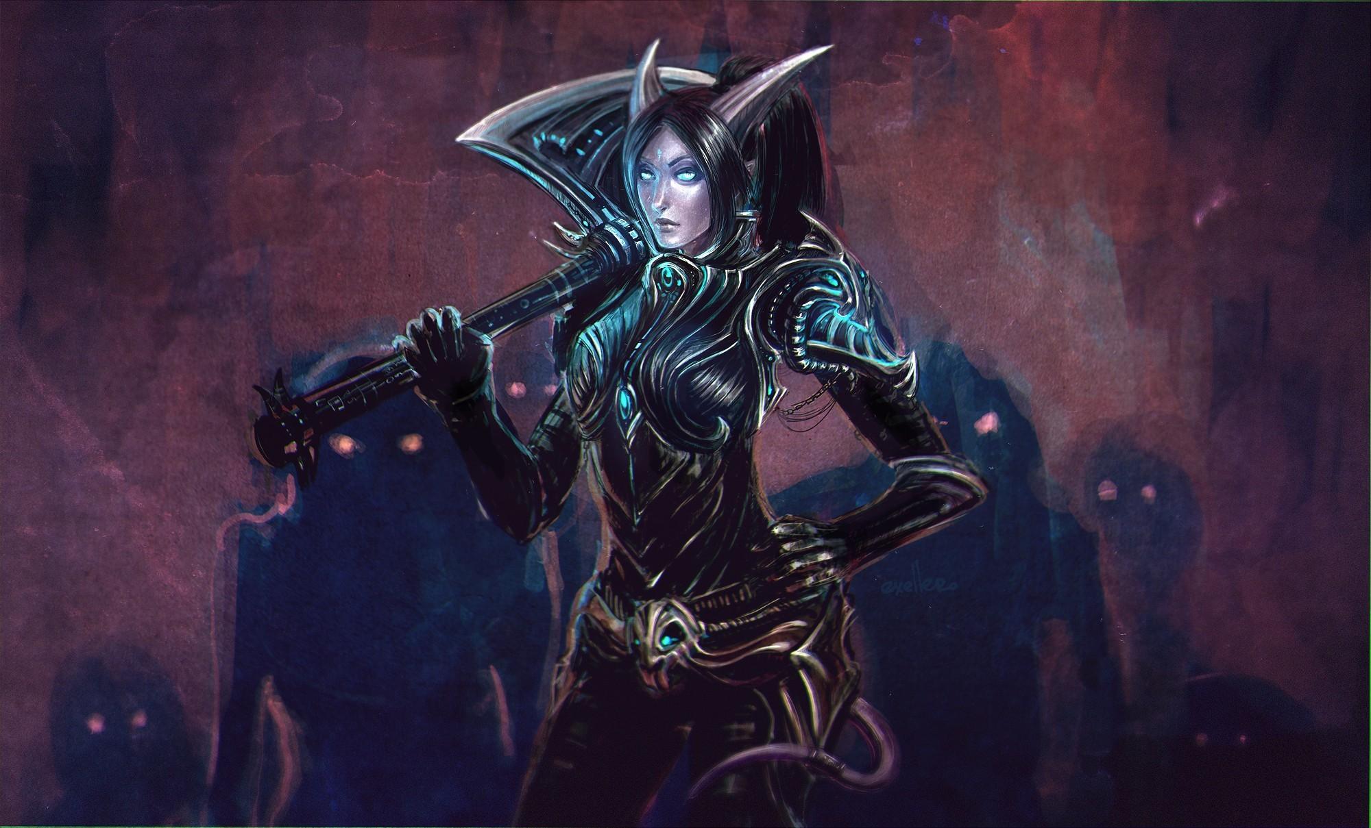 wallpaper World of Warcraft · Draenei · death knight