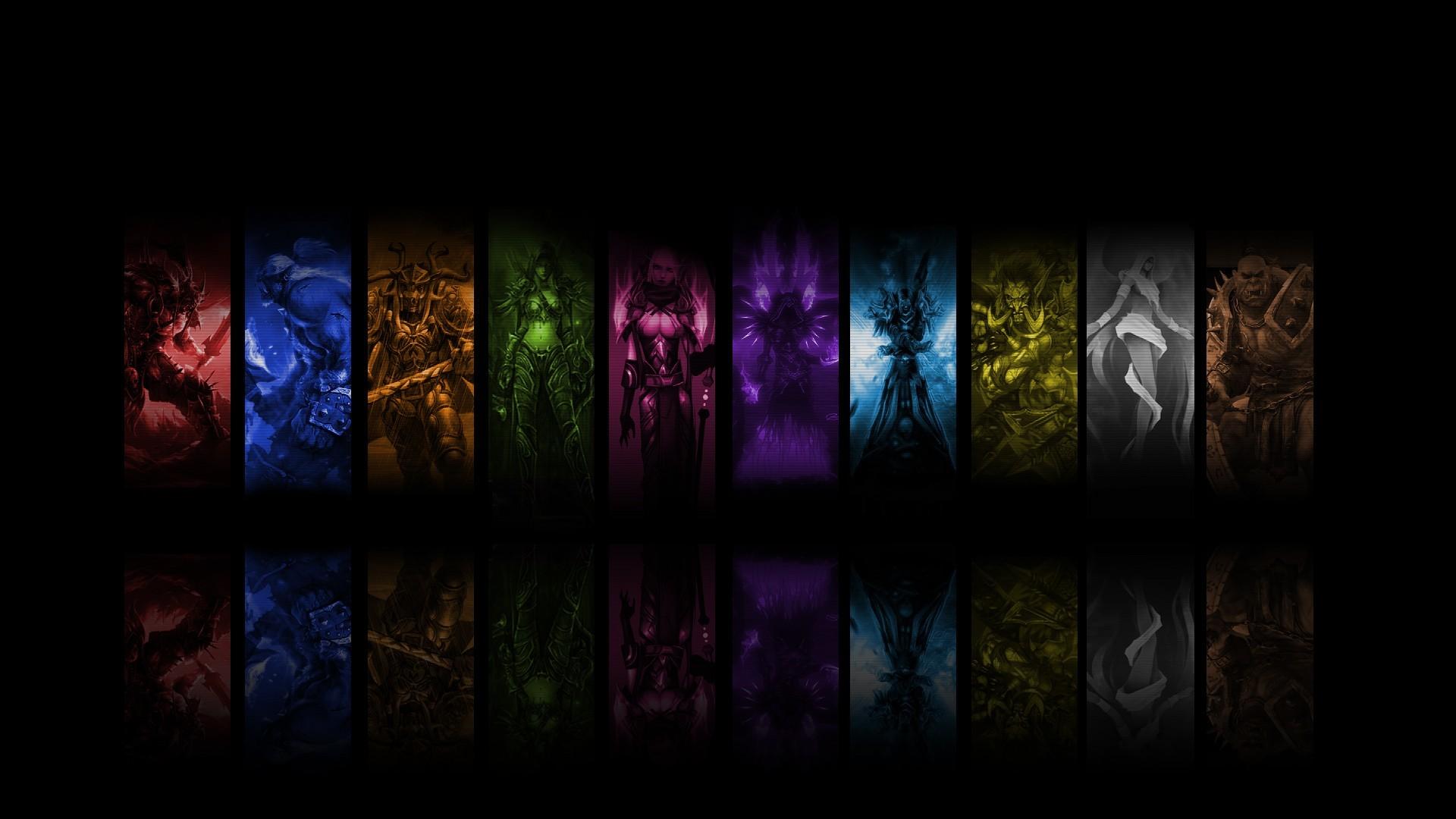 Death Knight Druid Mage Paladin Priest Rogue Shaman Warriors World Of  Warcraft