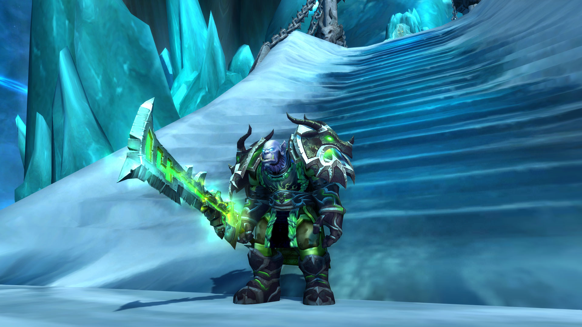 Unholy Death Knight mog. Can't seem to find the right helmet to go with  that set.