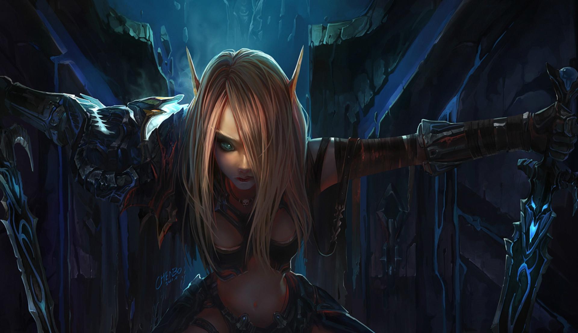 fantasy elves   Fantasy Elf Wallpaper/Background 1920 x 1105 – Id: 159493 –  · Death KnightBlood …