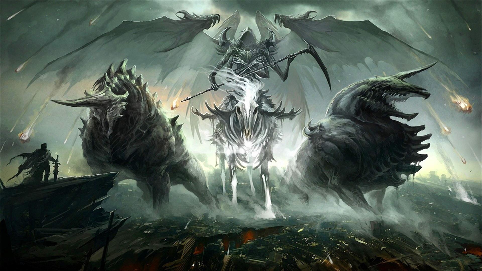 General fantasy art creature angel wings death Death Knight