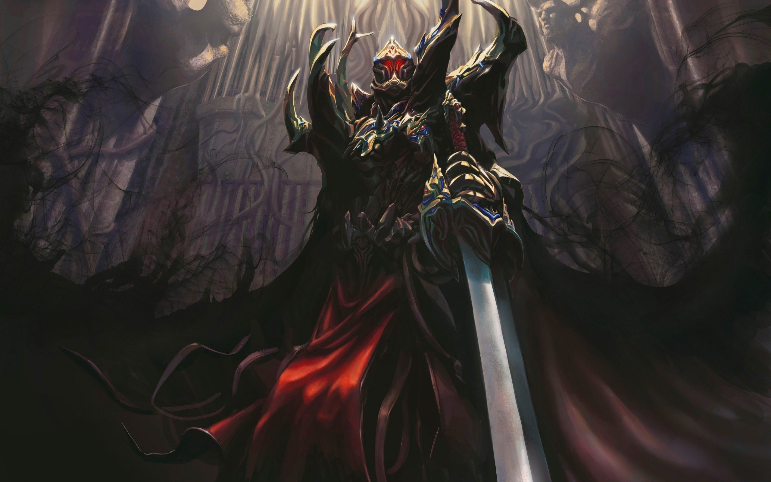 Armor Artwork Dark Death Fantasy Art Knights Shadows Swords