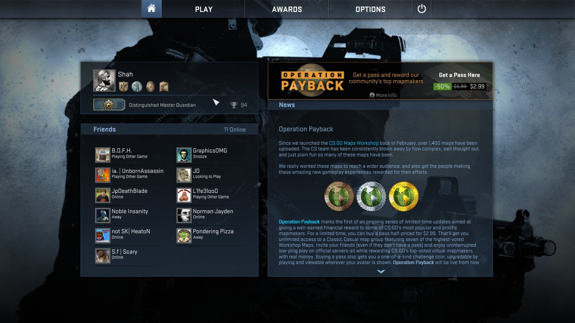 This is my first Counter-Strike and I finally reached the Distinguished  Master Guardian Rank. Thanks for all the tips from this subreddit, it  really helps.