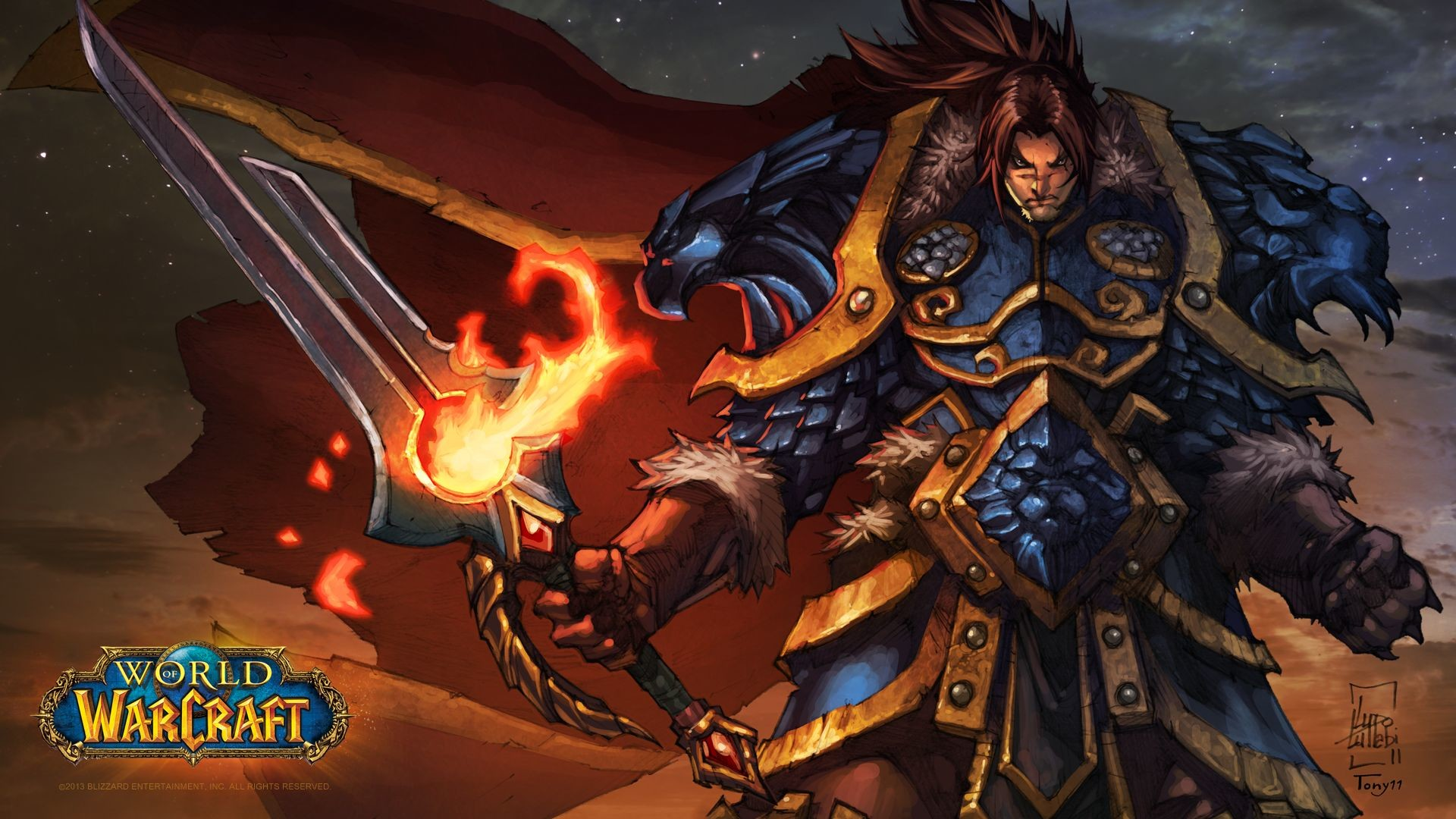 Preview wallpaper world of warcraft, hero, wow 1920×1080