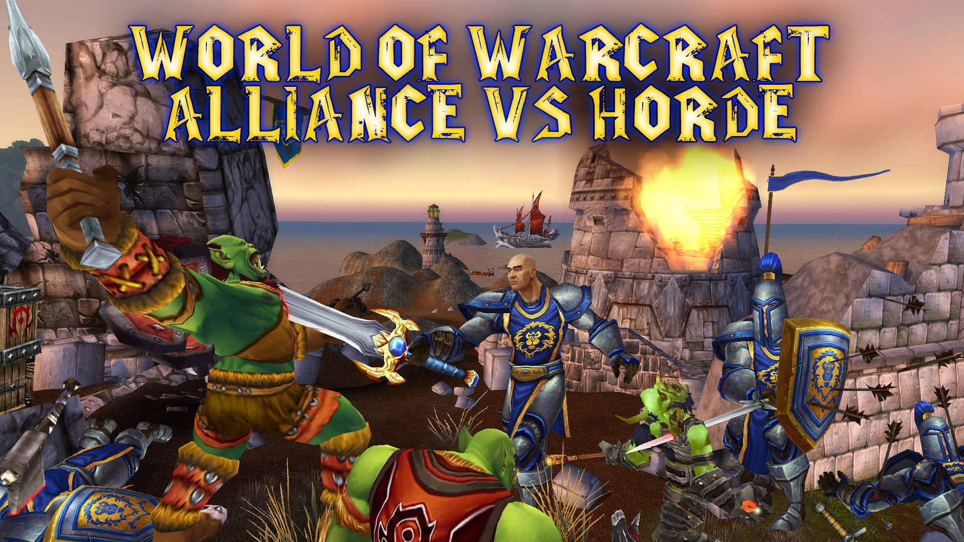 … World of Warcraft Wallpaper Alliance vs Horde Perk by percy1985