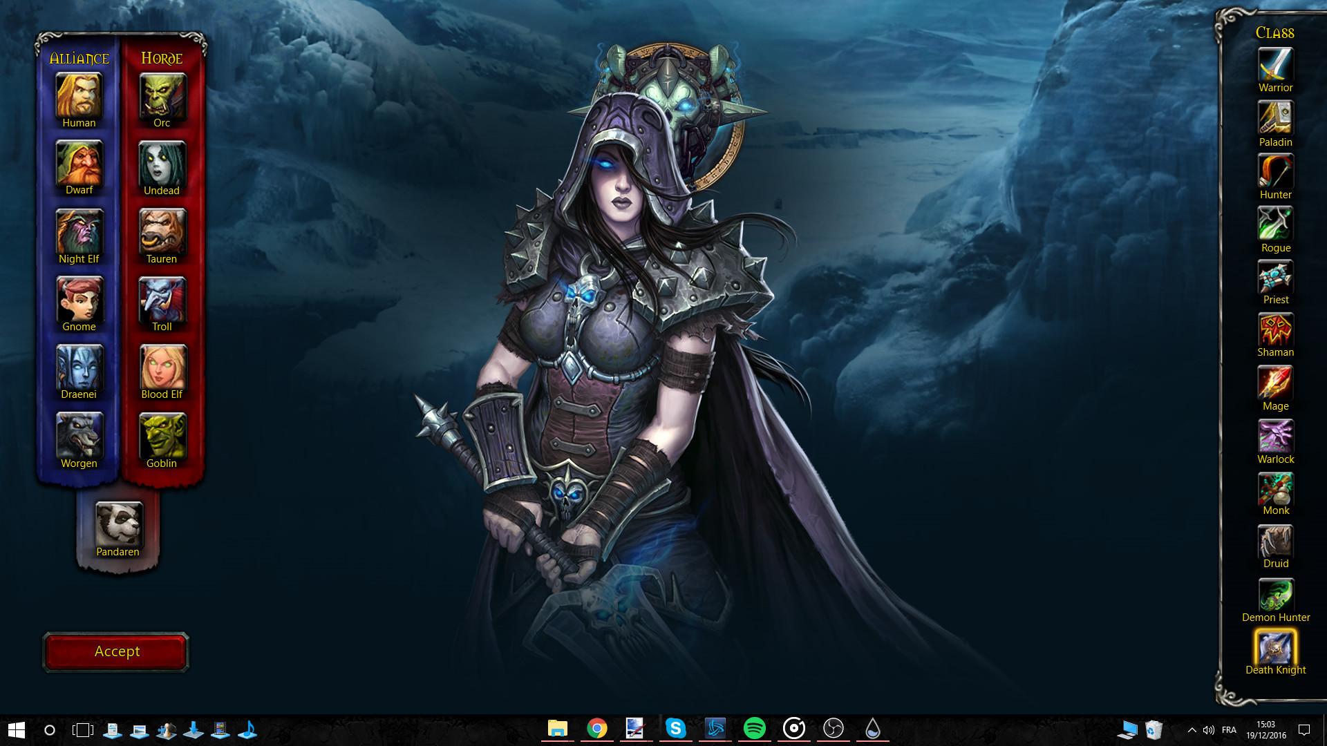 … World of Warcraft Rainmeter Interactive Wallpaper by Akmos37