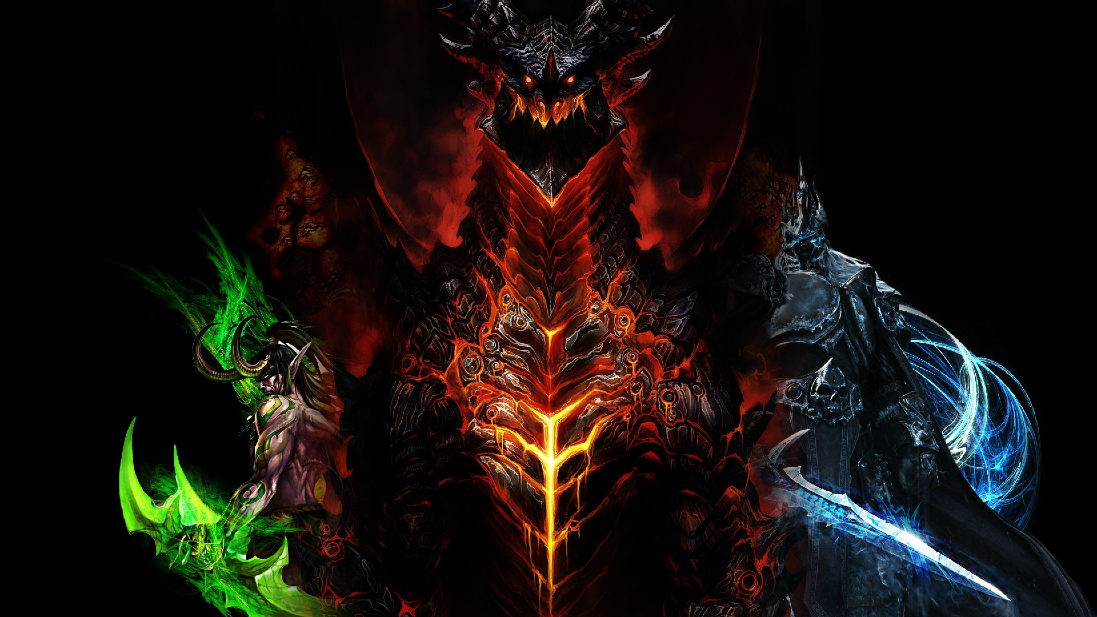 Preview wallpaper world of warcraft, dragon, characters, faces 3840×2160