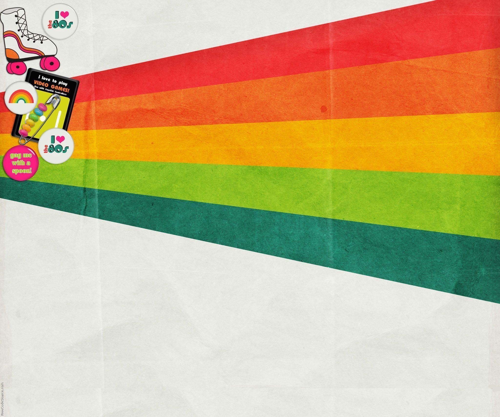 Retro 80s Wallpaper .