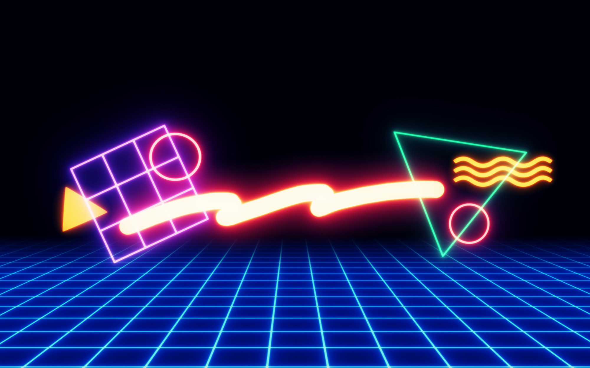 '80s Neon Shapes/Wallpapers · '