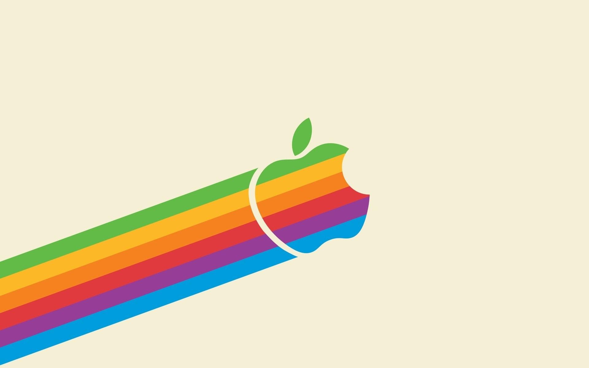 Flying Retro Rainbow Apple – Light