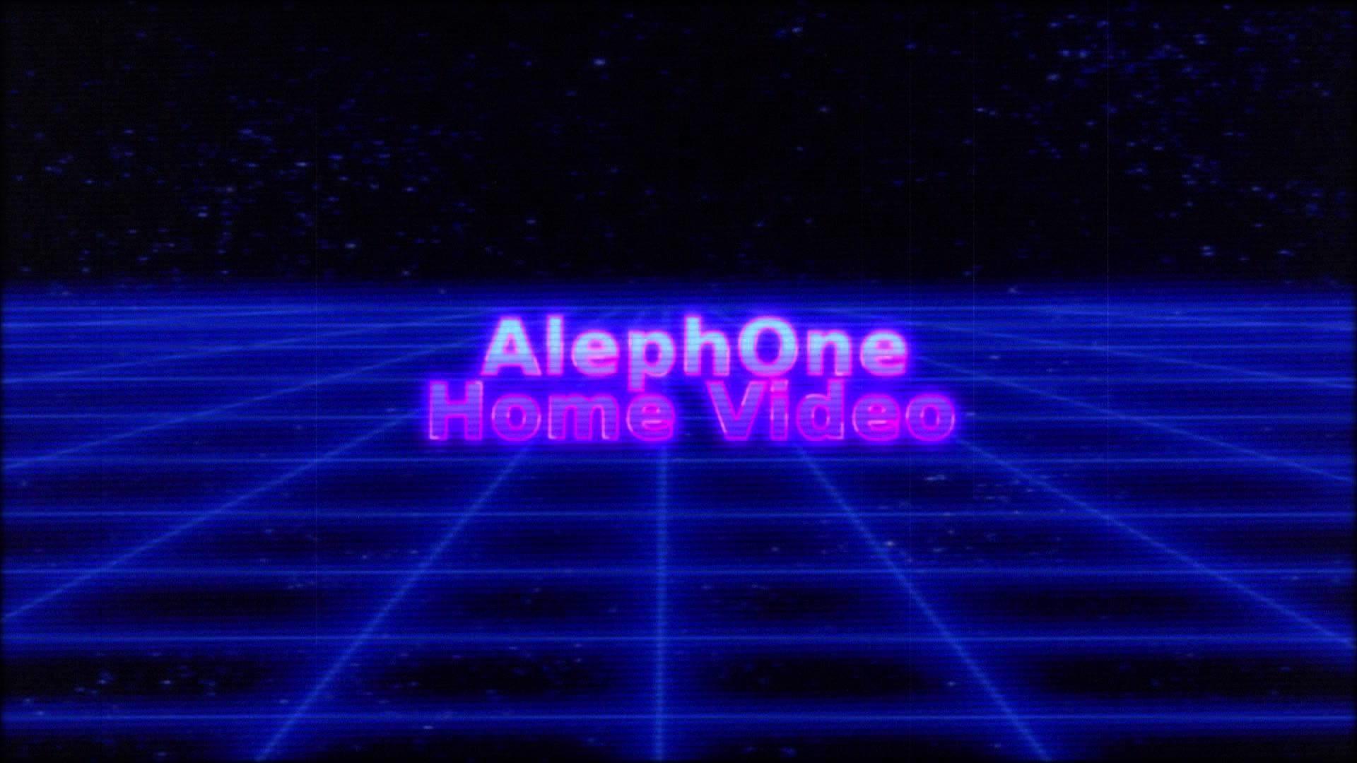 80's retro style ident logo