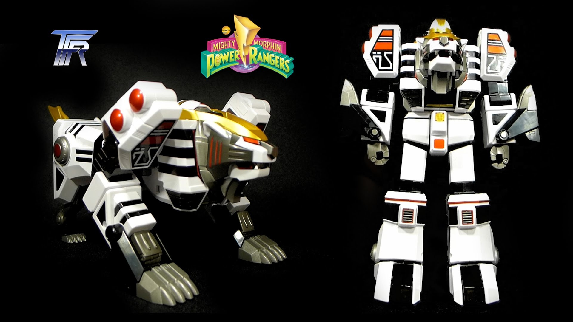 Mighty Morphin' Power Rangers LEGACY WHITE TIGERZORD (2015) Toy Review  (60FPS) – YouTube