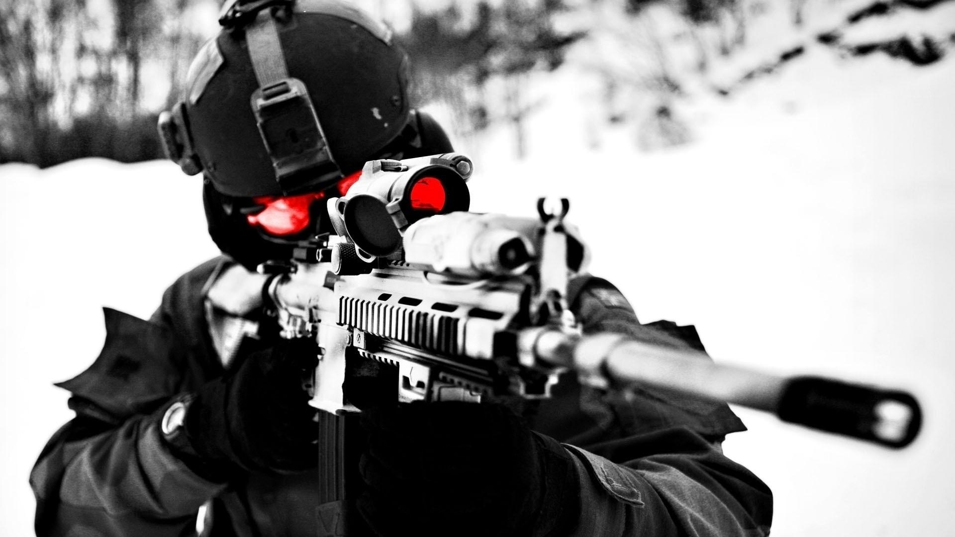 Sniper Close Up Wallpaper