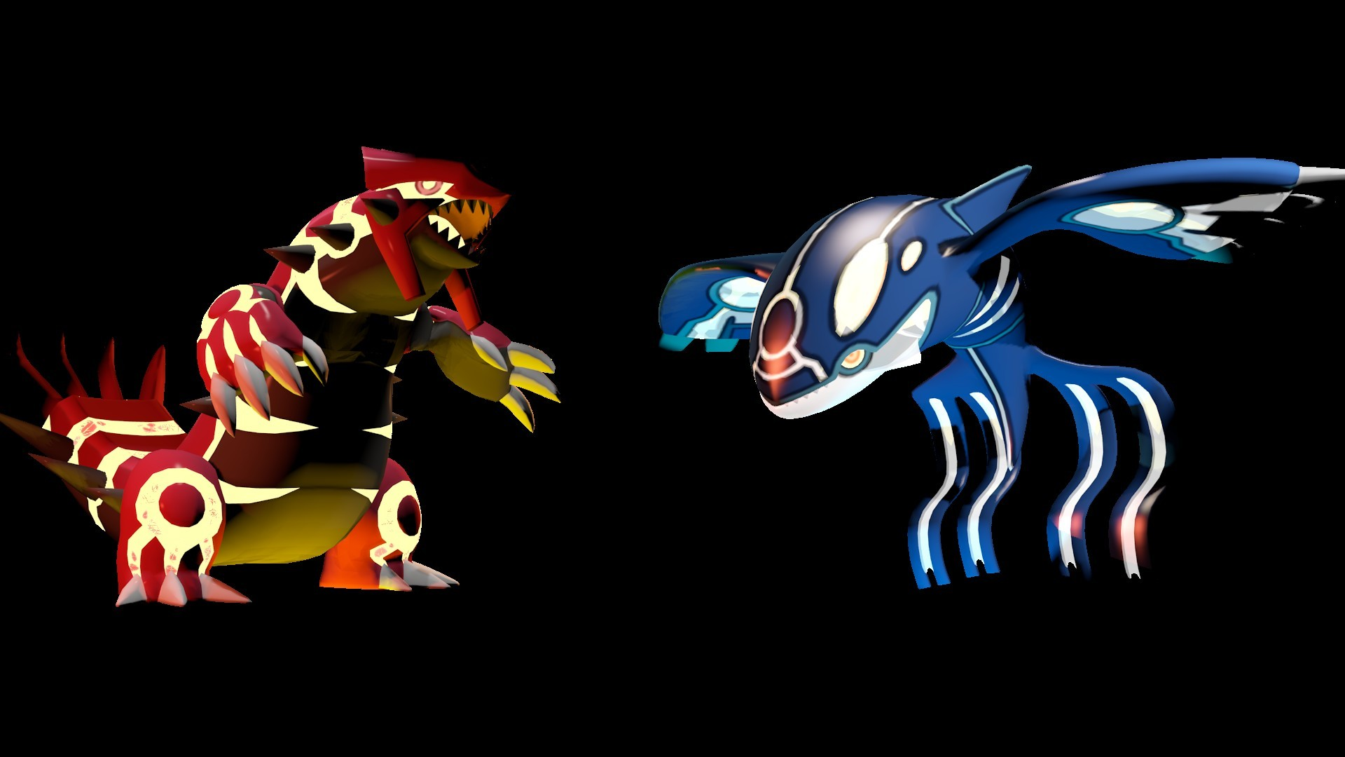Primal Groudon and Kyogre Render by AndyDatRaginPyro Primal Groudon and  Kyogre Render by AndyDatRaginPyro