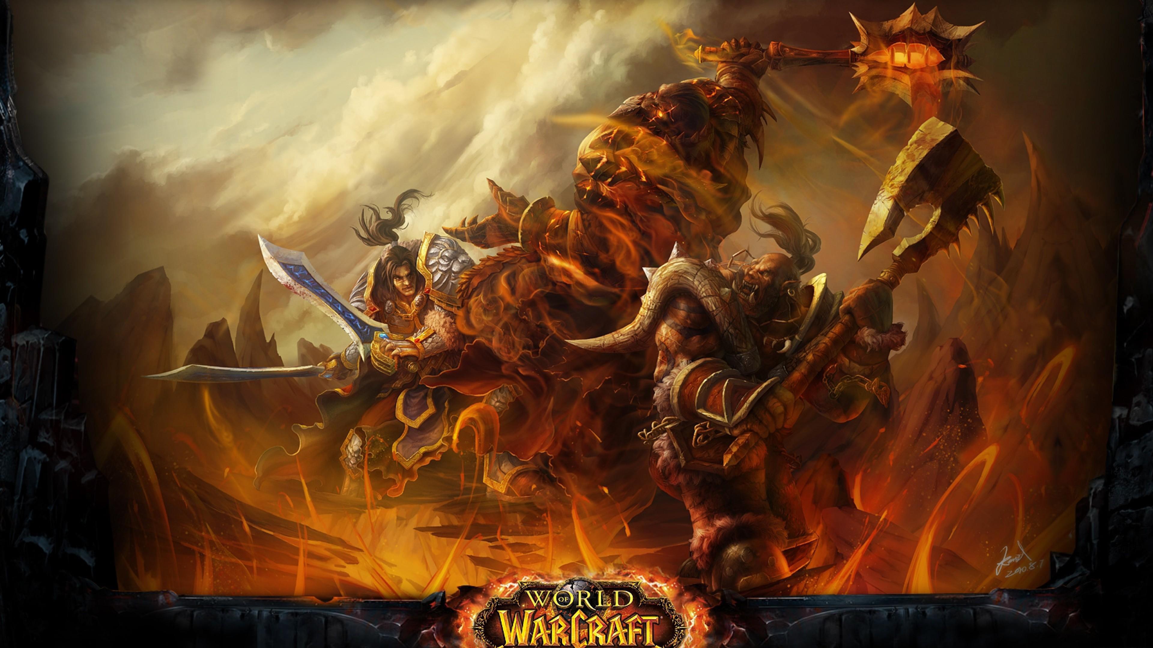 Preview wallpaper wow, cataclysm, world of warcraft, battle, warcraft  3840×2160