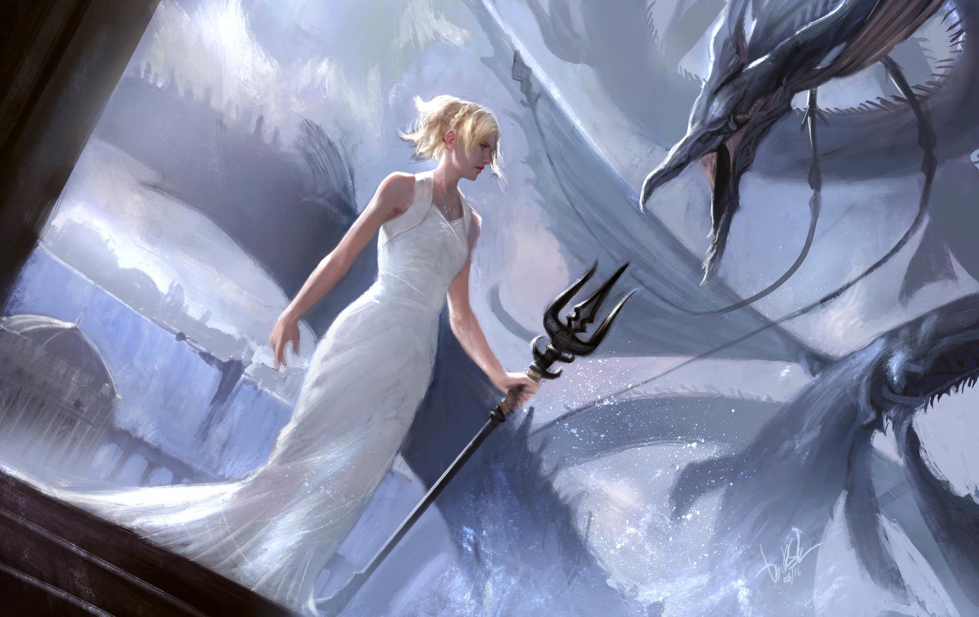 Lunafreya Artwork – Final Fantasy XV wallpaper