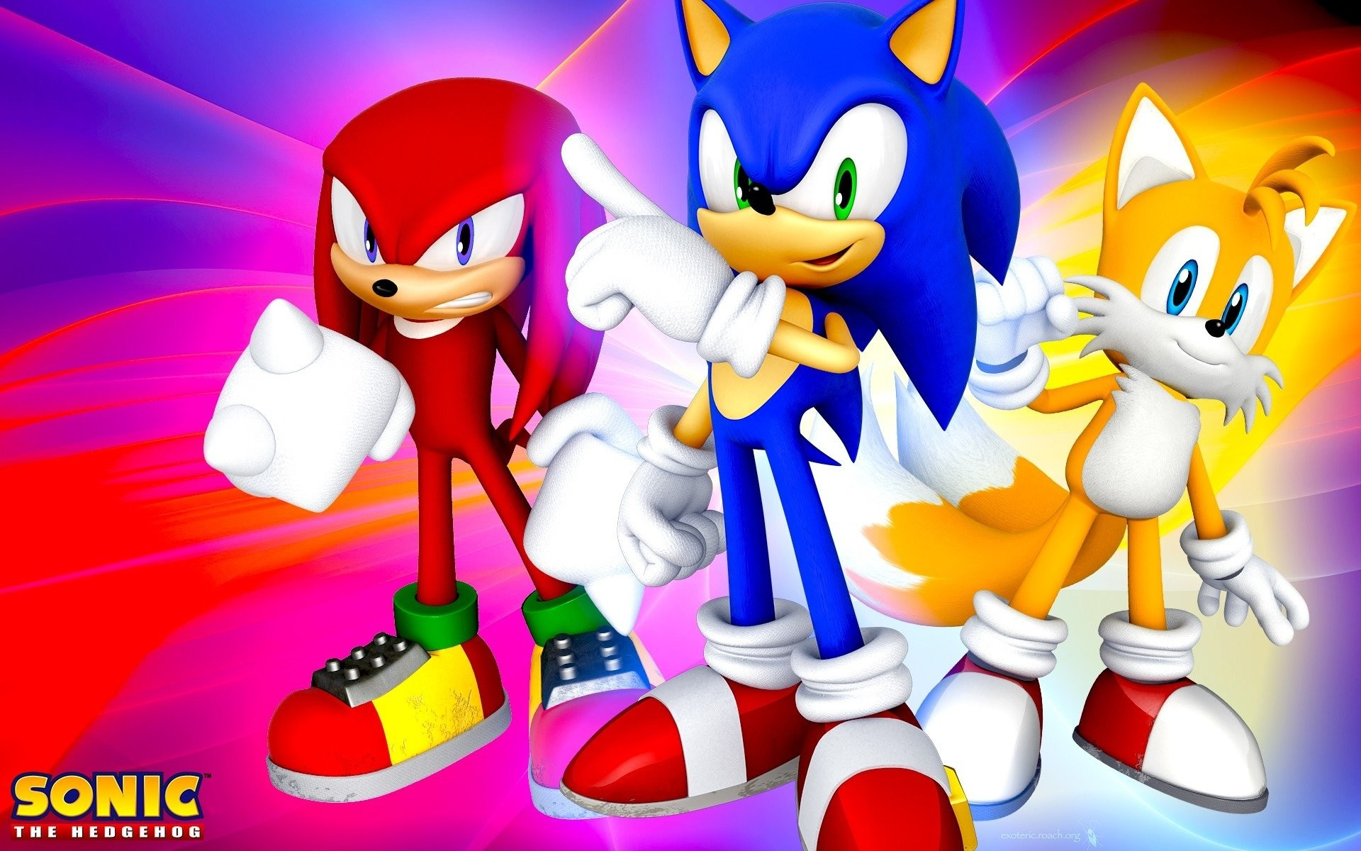 """Video Game – Sonic the Hedgehog Miles """"Tails"""" Prower Knuckles the Echidna  Wallpaper"""