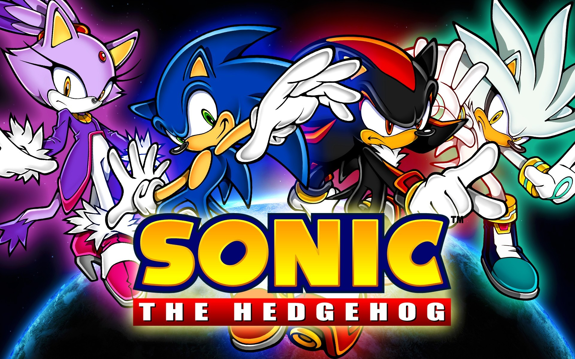 Video Game – Sonic the Hedgehog Blaze The Cat Shadow the Hedgehog Silver  the Hedgehog Wallpaper
