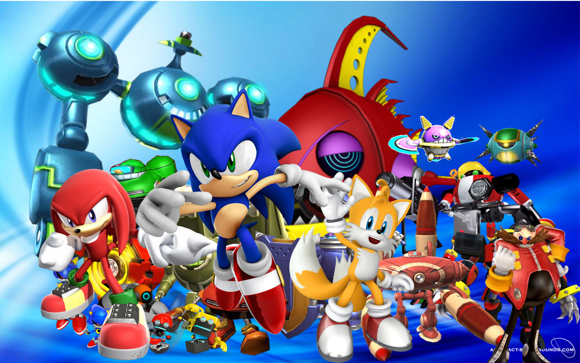 Colorful Sonic the Hedgehog wallpaper Background for PC