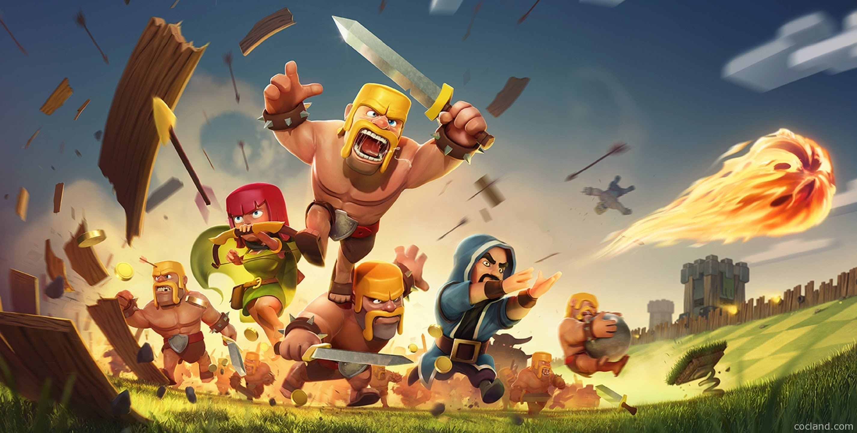 clash of clans barbarian wallpapers hd