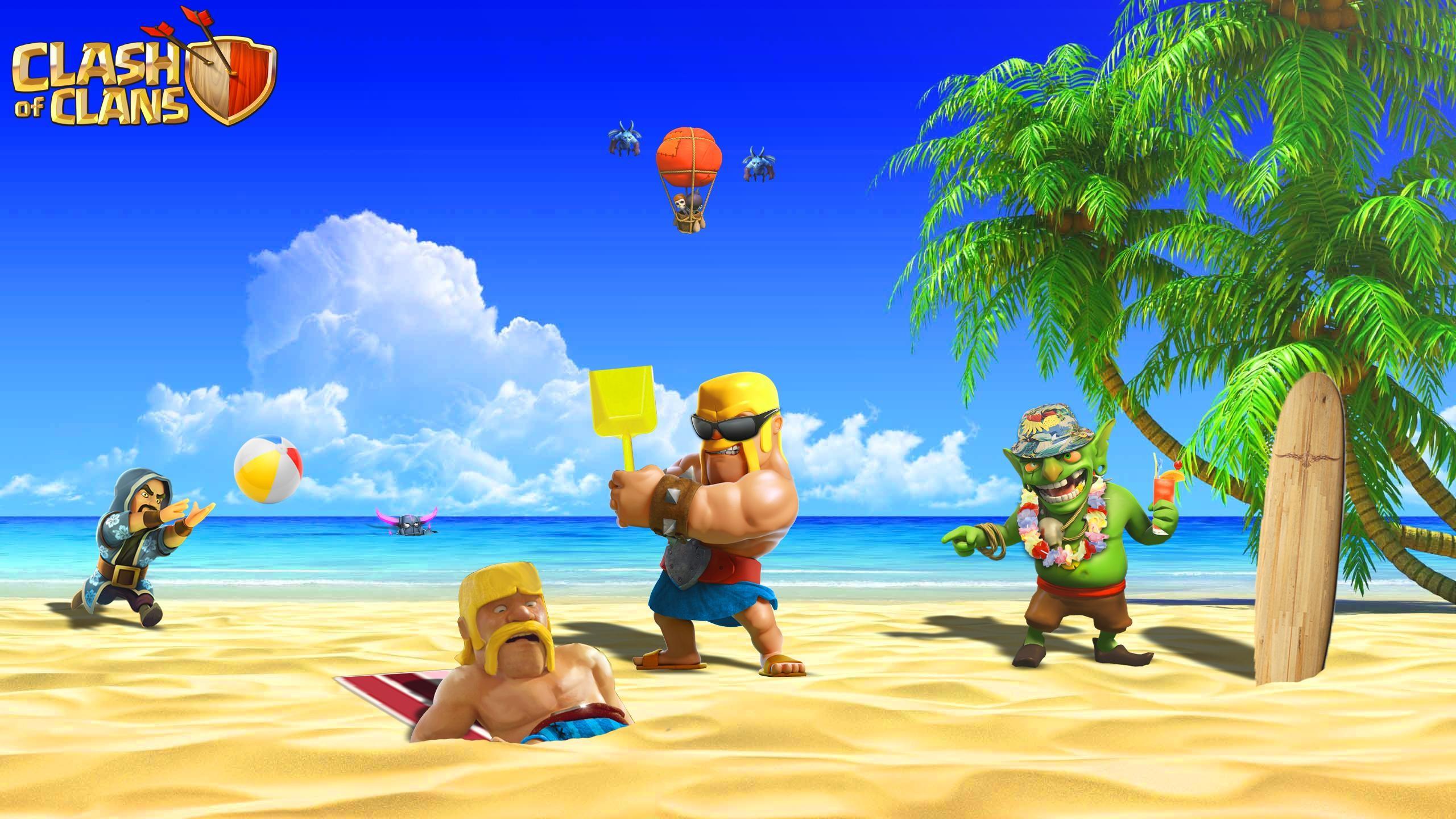 Funny Clash of Clans Barbarian Wallpaper–www.mobilga.com