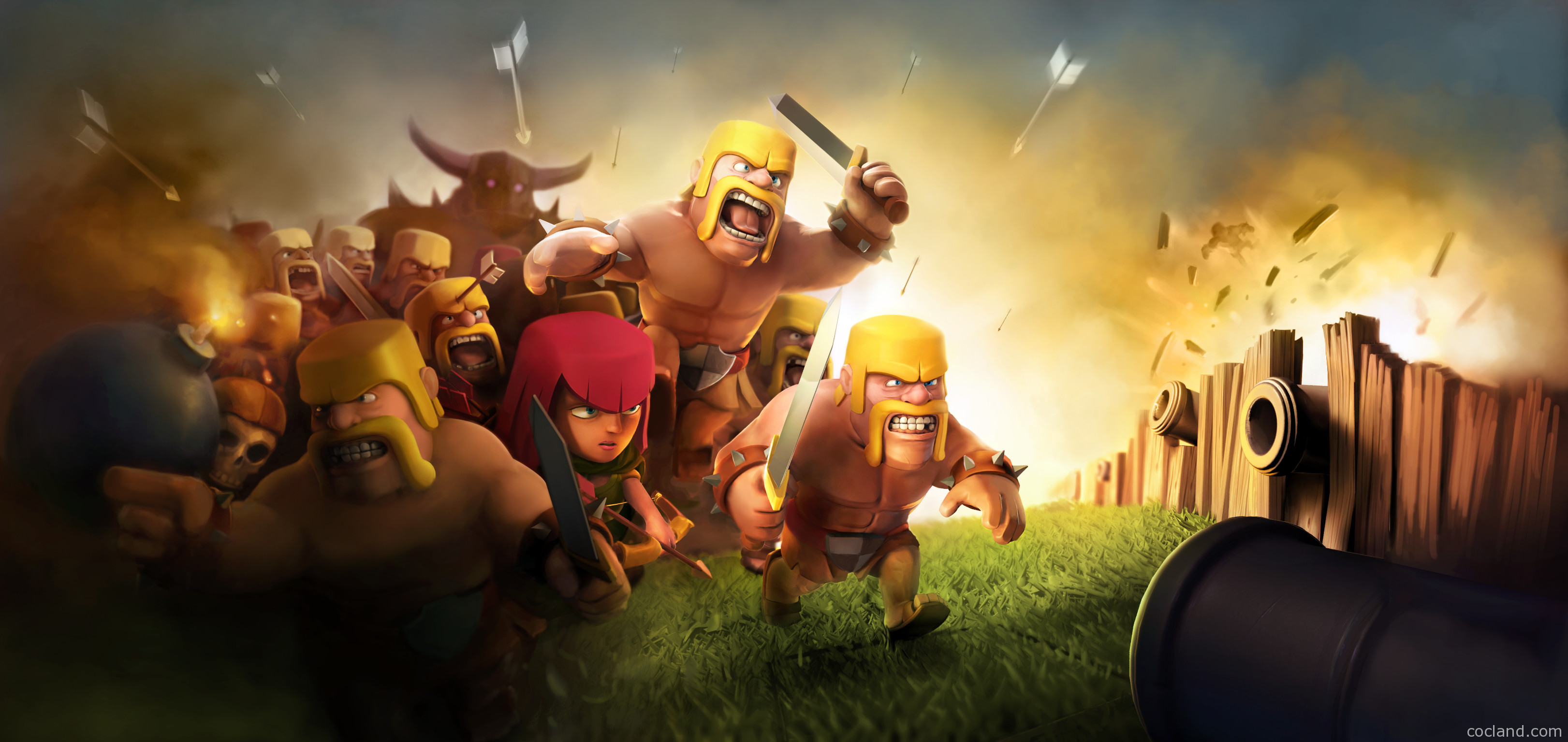 … amazing game, Clash of Clans! I will try to update this page weekly. If  you have new wallpapers, please do a comment to share it! Thank you so much  :).