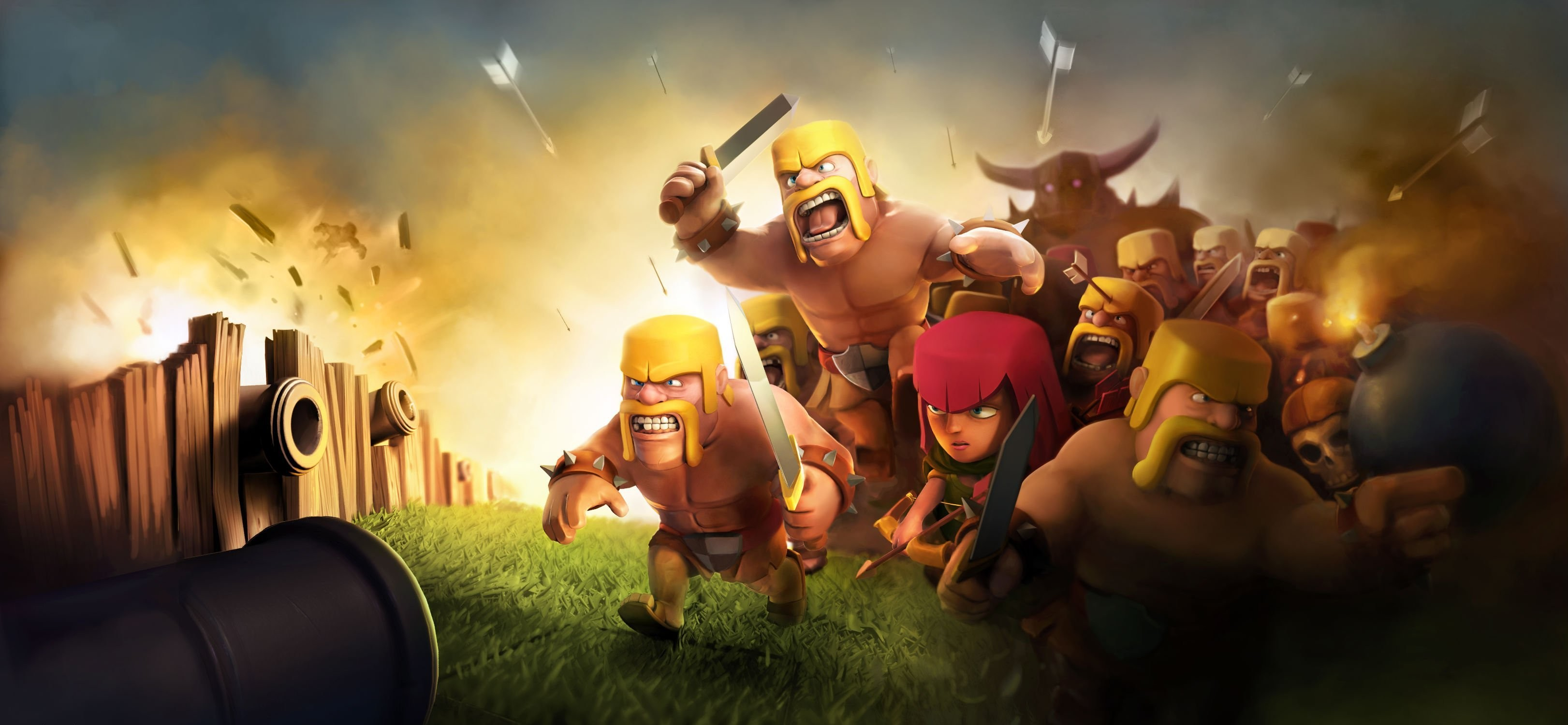 Clash Of Clans HD 2048×1152 Resolution