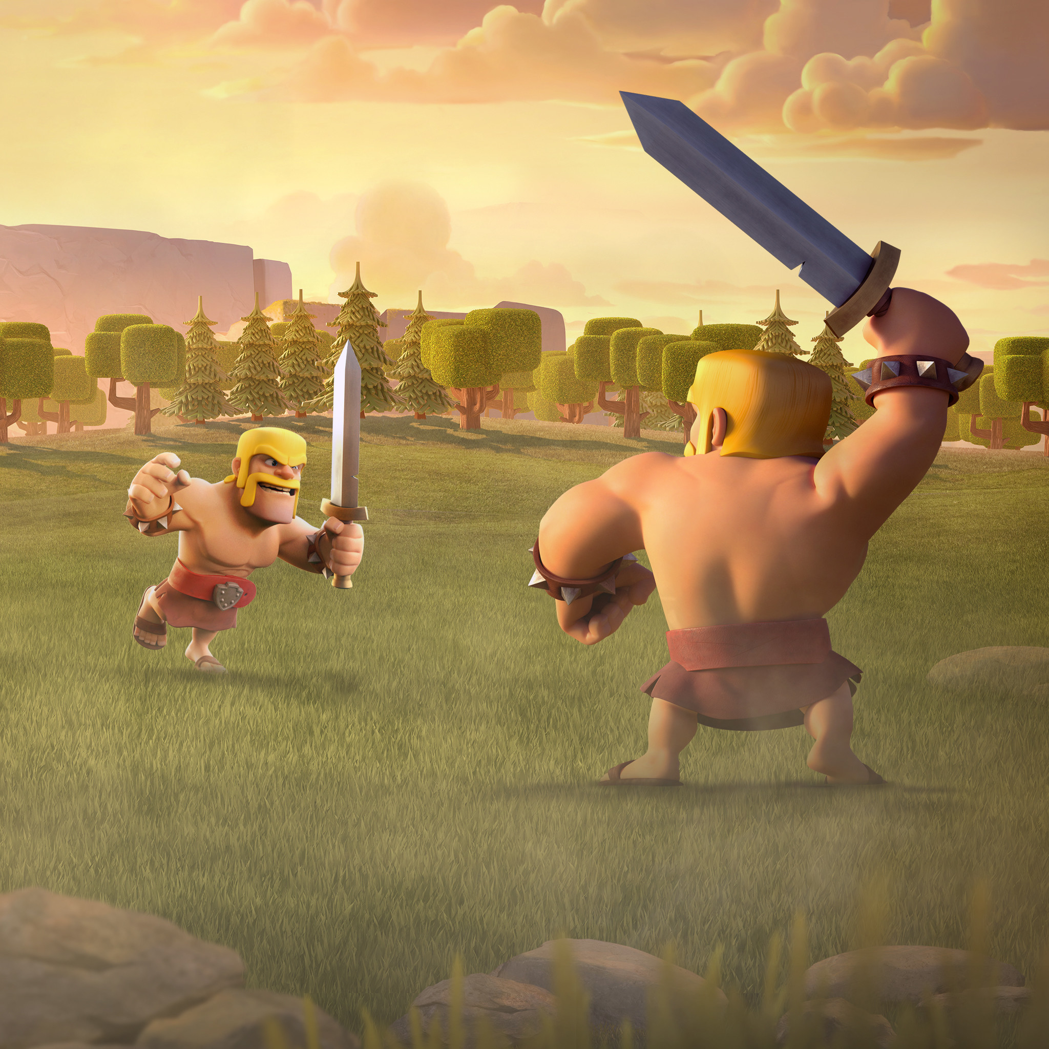 Barbarian Clash of Clans 2048×1152 Resolution