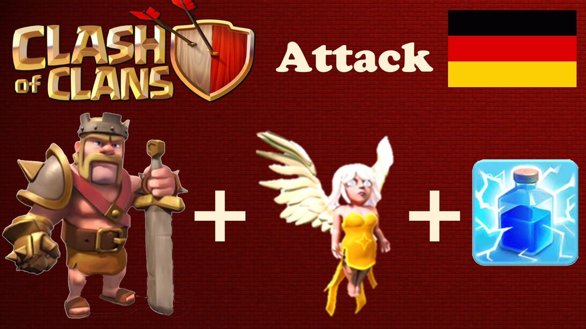 Clash of Clans: Only barbarian king + healers attack [German/Deutsch] –  YouTube