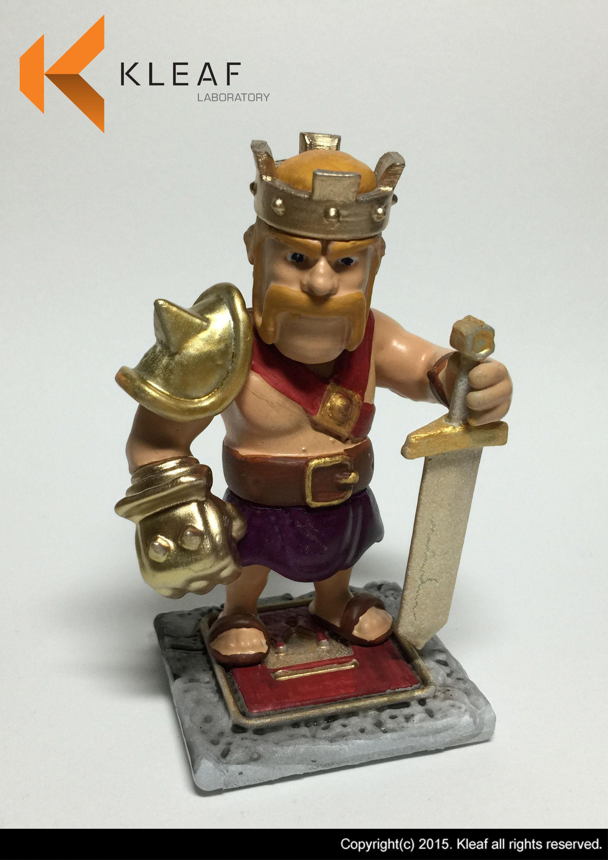 … clash of clan – barbarian king statue 3d model stl 5 …