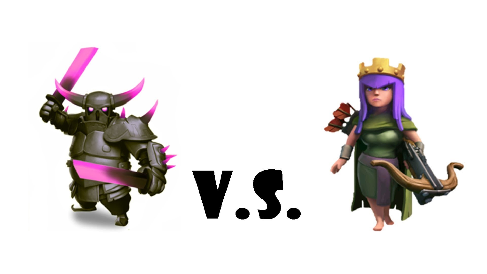 clash of clans barbarian king vs pekka