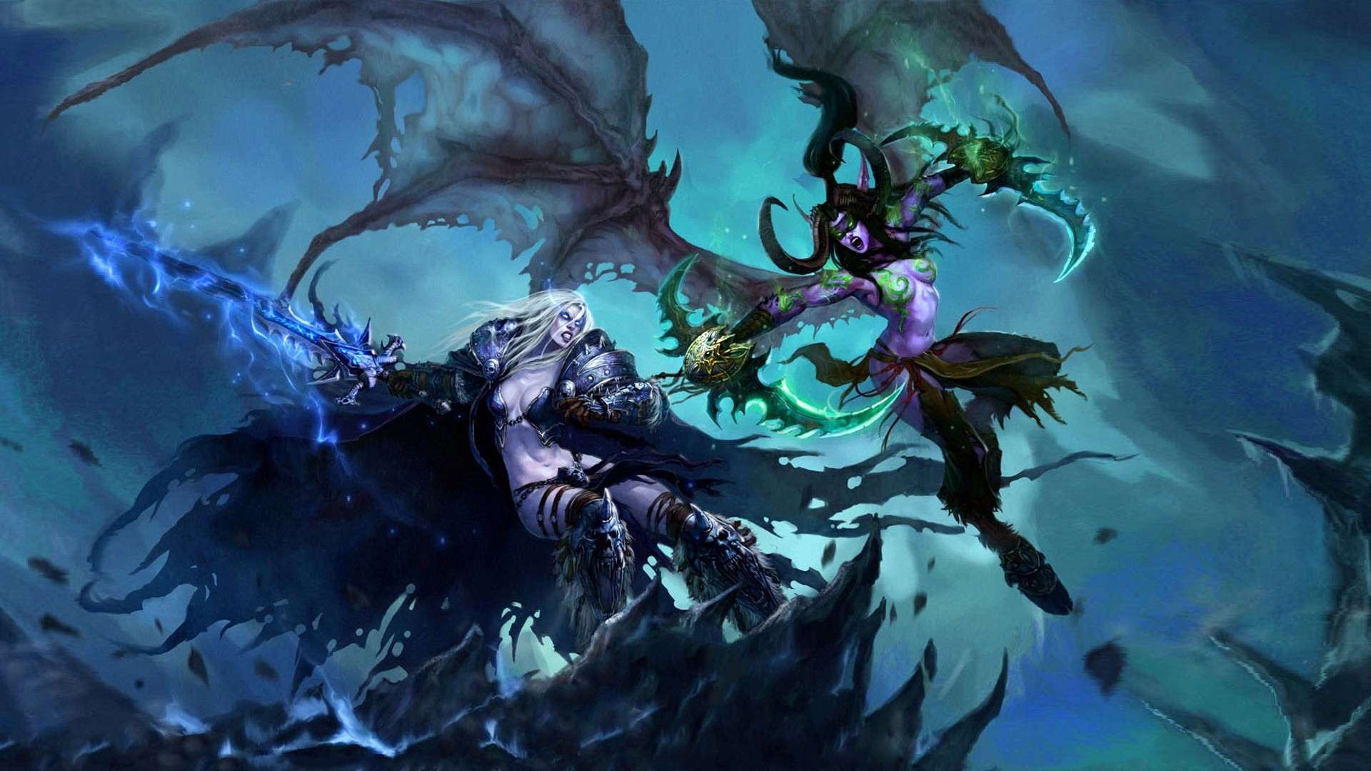 wallpaper death knight · Arthas · Illidan Stormrage · rule 63 · World of  Warcraft