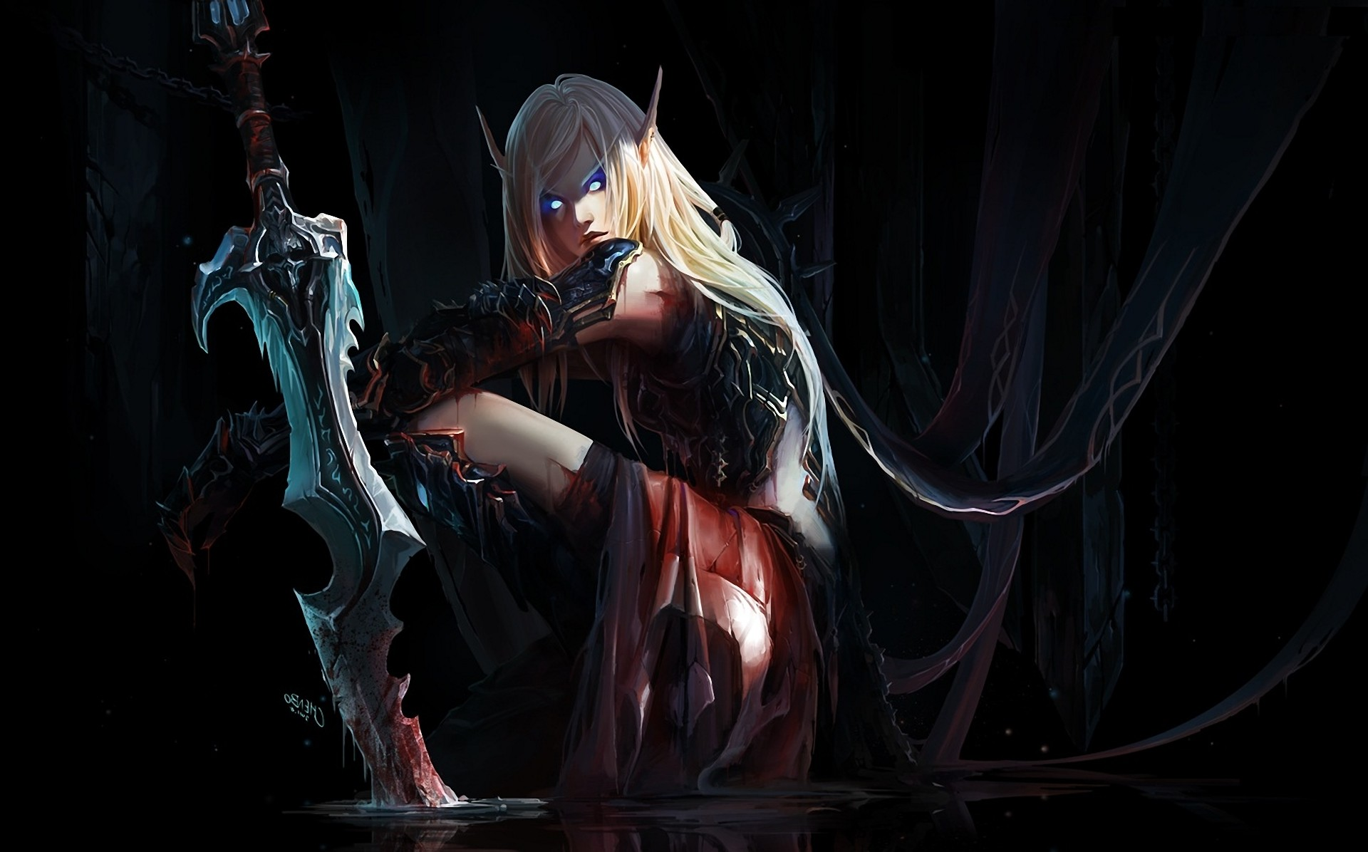 fantasy Art, World Of Warcraft, Death Knights, Chenbo, Blood Elf Wallpapers  HD / Desktop and Mobile Backgrounds