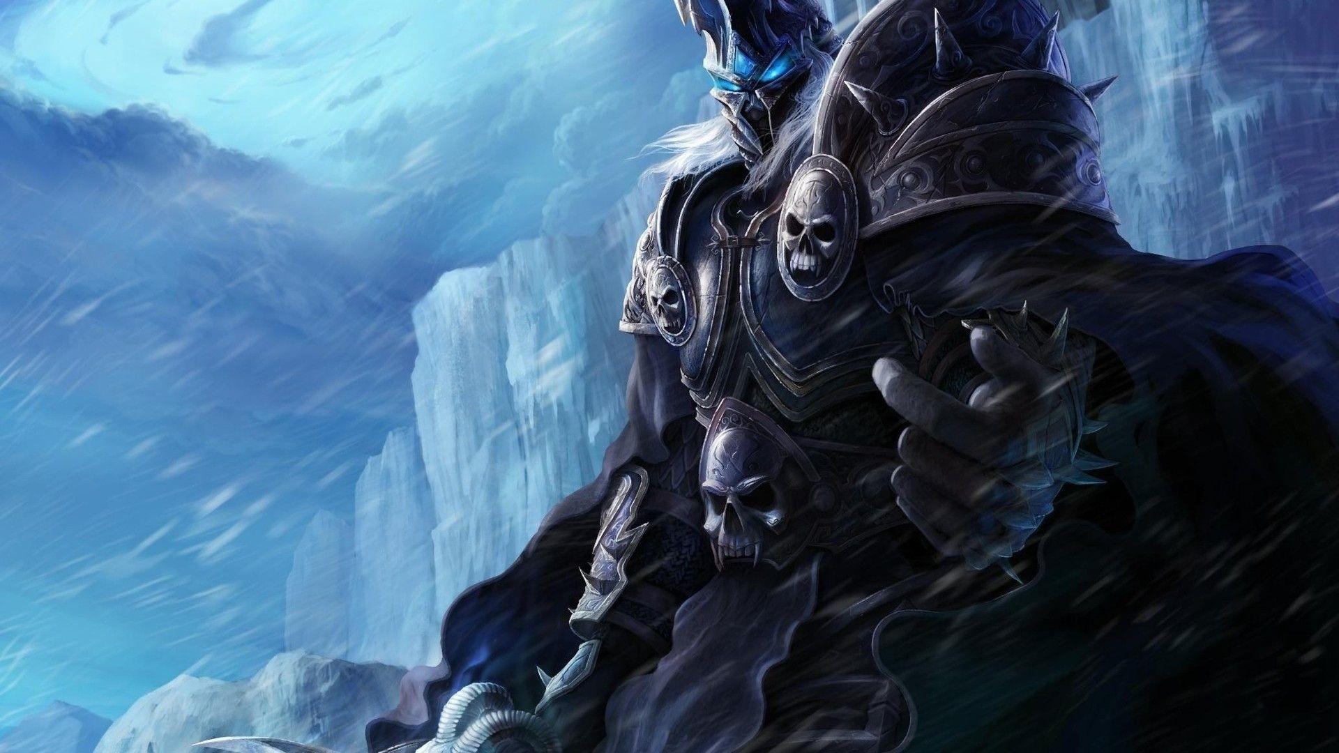 Full HD Wallpaper world of warcraft ice necromancer knight .