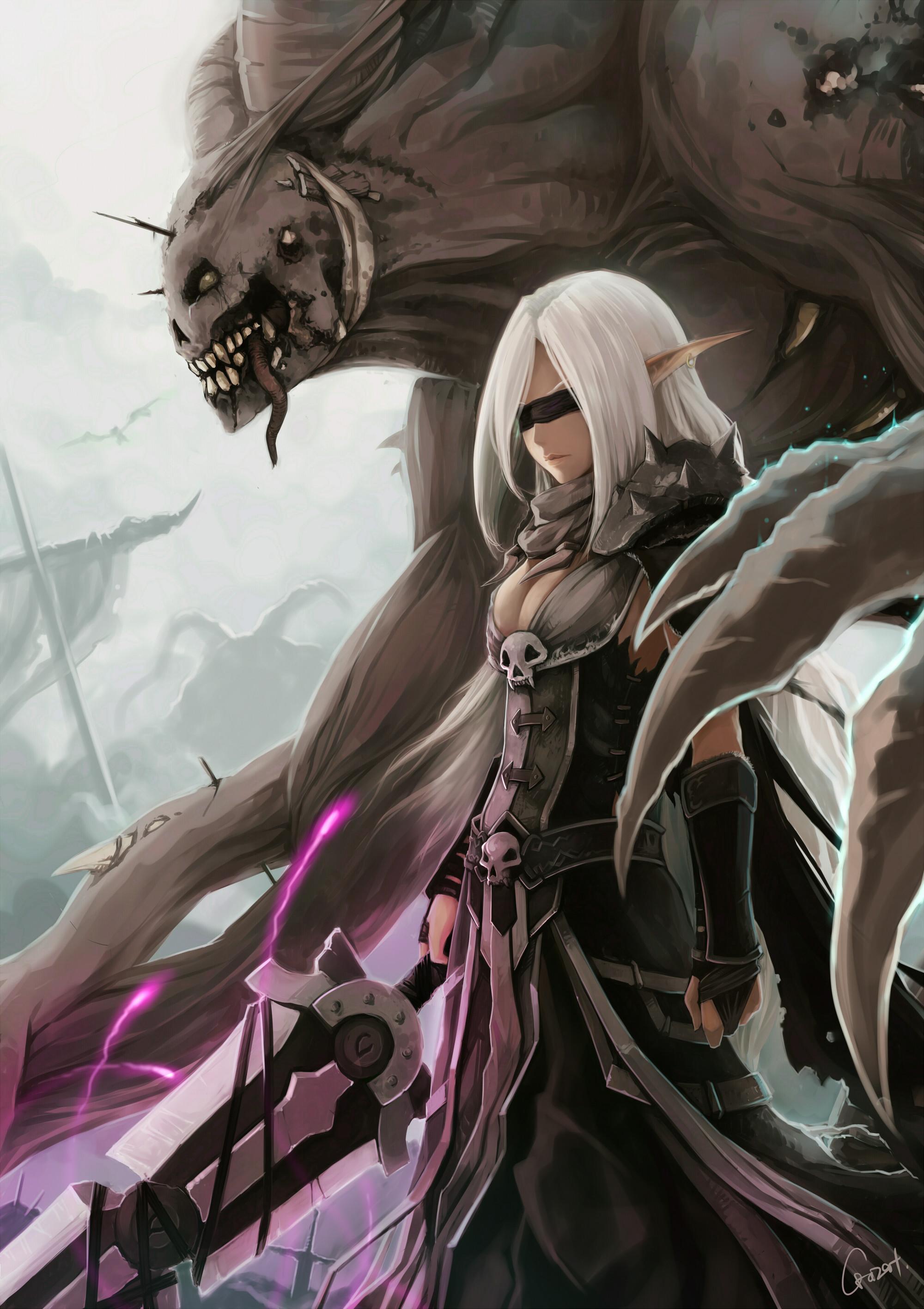 crazat, Warcraft, Monster, Bone, Skull, Knight