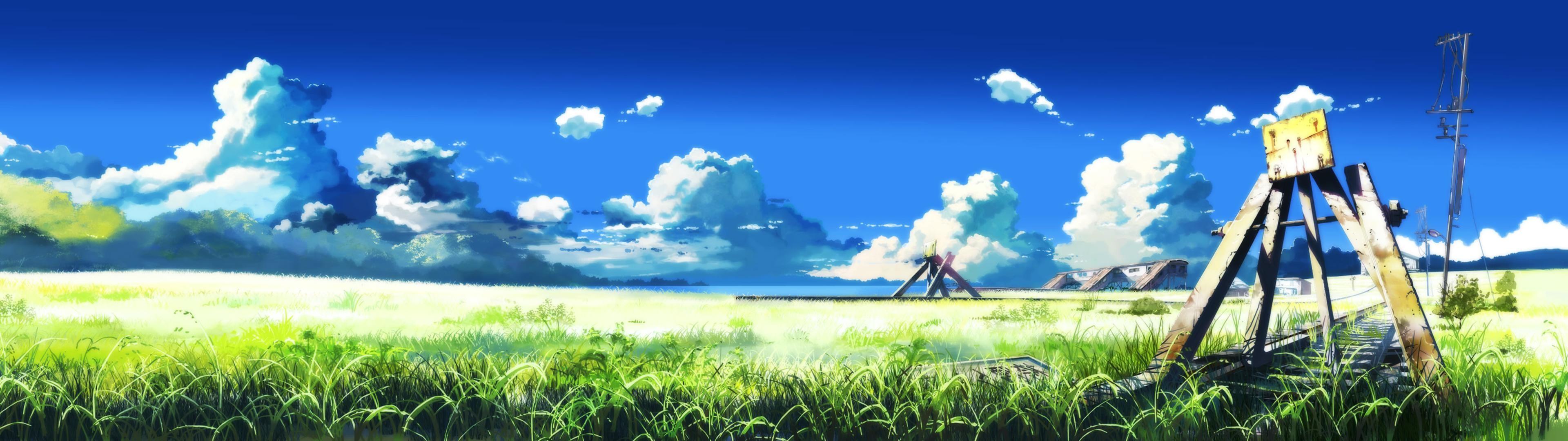Anime Landscape Dual Screen Res: / Size:441kb. Views: 74029