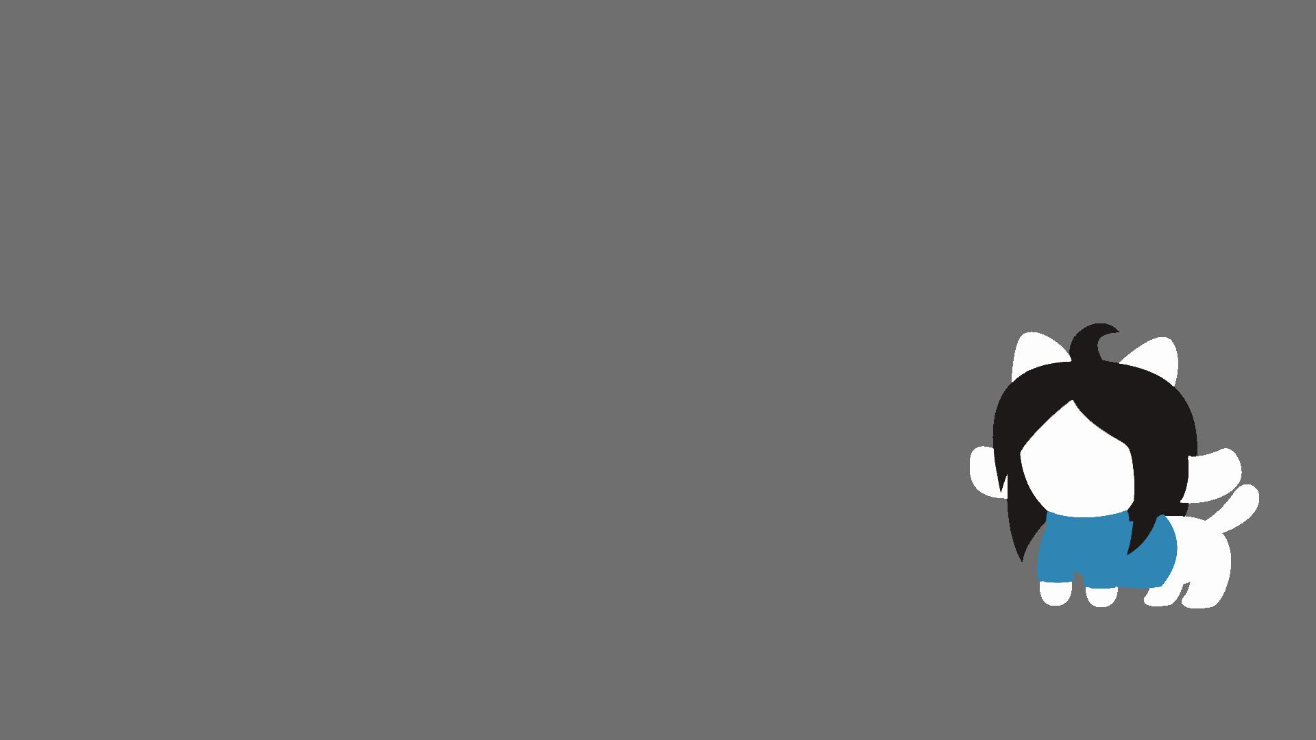 Minimalistic Temmie Wallpaper I made :3 …