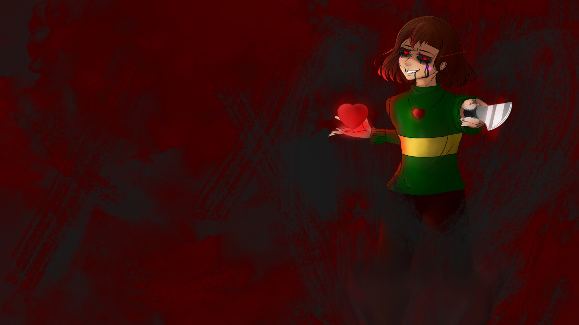 Chara – The World is Ending (Undertale Wallpaper) by DigitalColdI on .