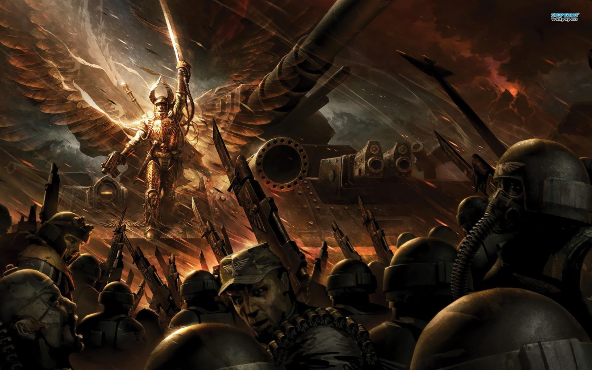 wallpaper video games · Warhammer · imperial guard